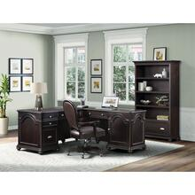 Clinton Hill - L-desk & Return - Kohl Black Finish