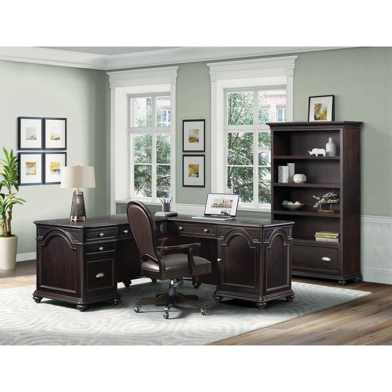 Clinton Hill - Leather Desk Chair - Kohl Black Finish