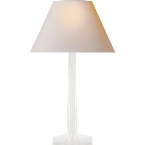 Visual Comfort CHA8707WHT-NP E. F. Chapman Strie 30 inch 100 watt Plaster White Decorative Table Lamp Portable Light