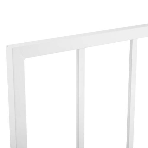 Tatum King Metal Headboard in White