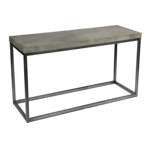 Emerald Home T375-02 Onyx Sofa Table, Aged Concrete