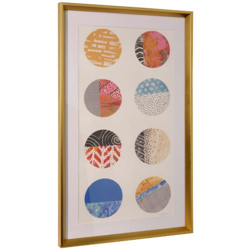 Style Craft - REPETITION II  36in ht X 22in w  Framed Print Under Glass