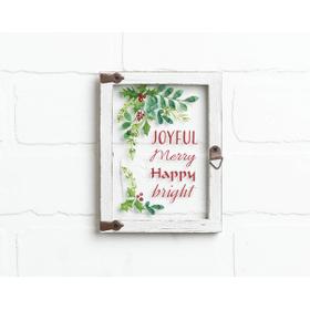 Window Plaque - Joyful Merry Happy Bright