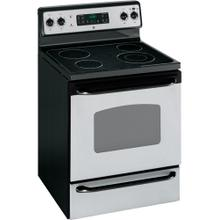 "GE® 30"" Free-Standing Electric Range (This is a Stock Photo, actual unit (s) appearance may contain cosmetic blemishes. Please call store if you would like actual pictures). This unit carries our 6 month warranty, MANUFACTURER WARRANTY and REBATE NOT VALID with this item."