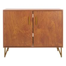 Pine 2 Door Modular TV Unit - Natural / Gold