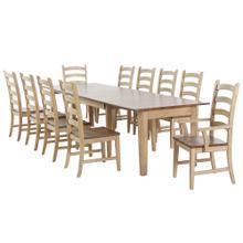 See Details - Rectangular Extendable Dining Set (11 piece)