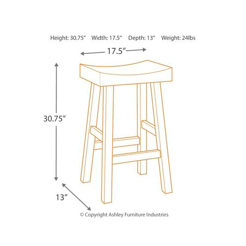 Glosco Bar Height Bar Stool