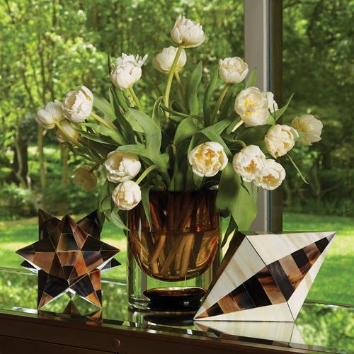 Thick Cylinder Vase-Amber Tobacco-Sm