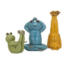 Yoga Frog Statuaries - Set of 3