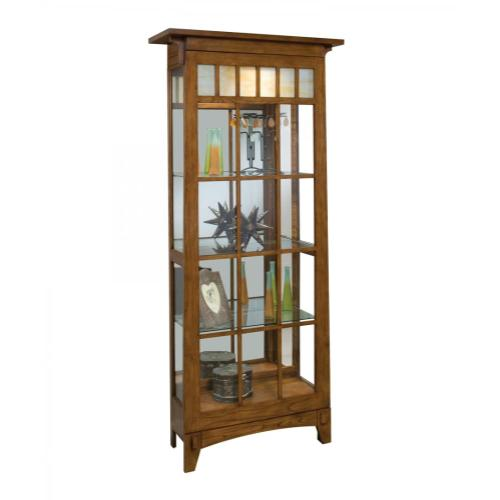 11051 BEDFORD PARK TWO-WAY SLIDING DOOR CURIO CABINET