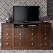 Small Spaces Media Chest with Side Cabinets