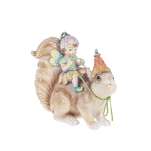 Flower Fairy on Squirrel Figurine