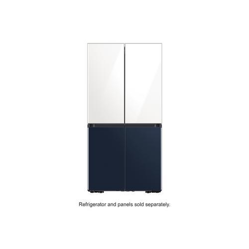 Samsung - BESPOKE 4-Door Flex™ Refrigerator Panel in Navy Glass - Bottom Panel