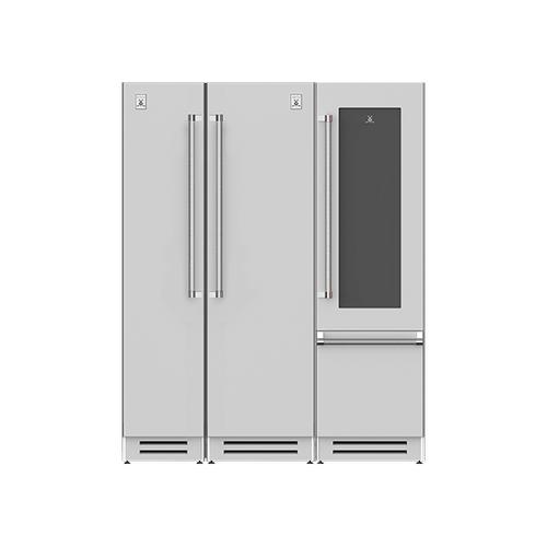 "Hestan - 66"" Column Freezer (L), Refrigerator and Wine Refrigerator ® Ensemble Refrigeration Suite - Prince"
