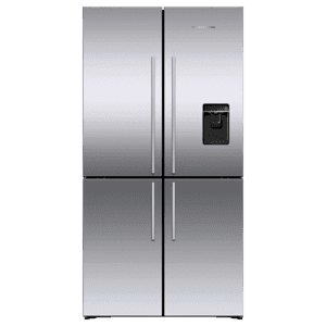 "Fisher & PaykelFreestanding Quad Door Refrigerator Freezer, 36"", 18.9 cu ft, Ice & Water"