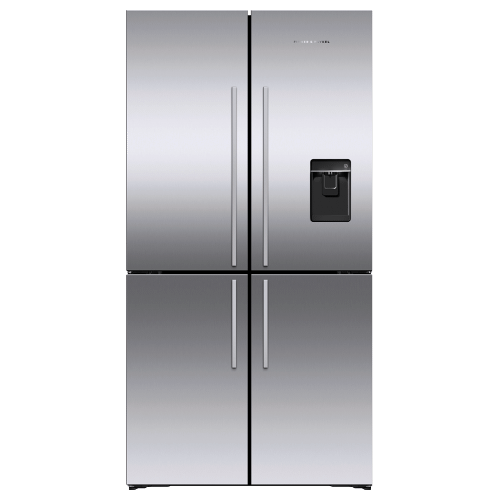 "Freestanding Quad Door Refrigerator Freezer, 36"", 18.9 cu ft, Ice & Water"