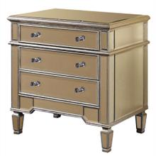 3 Drawer Cabinet 30 in. x 20 in. x 30 in. in Silver Leaf
