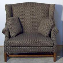 Chair & 1/2 with Oak Finish Chippendale Base