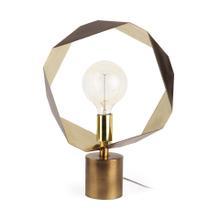See Details - Shamir 15L x 15W Gold Geometric Metal Table Lamp