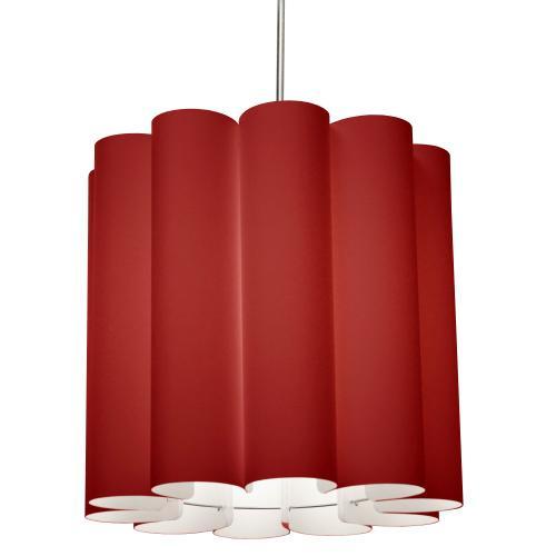 1lt Sandra Pendant Jtone Red, Polished Chrome