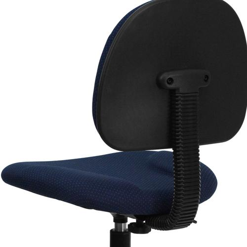 Gallery - Navy Blue Patterned Fabric Drafting Chair (Cylinders: 22.5''-27''H or 26''-30.5''H)