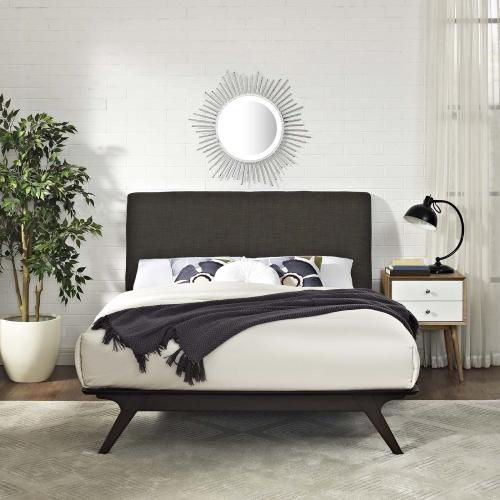 Tracy Queen Bed in Cappuccino Brown