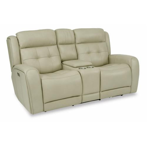 Flexsteel - Grant Power Reclining Loveseat with Console and Power Headrests
