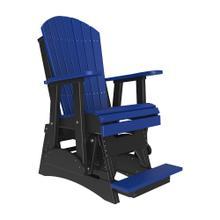 See Details - 2 Adirondack Balcony Glider Chair, Blue-black