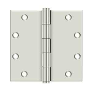 """Deltana - 5"""" x 5"""" Square Hinges - Polished Nickel"""