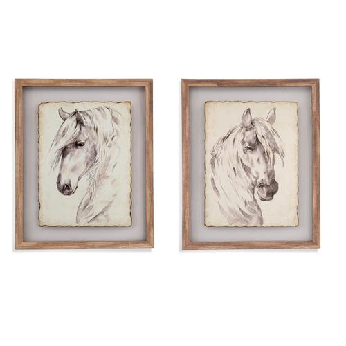 Bassett Mirror Company - Horse Portrait Sketch 2 pc