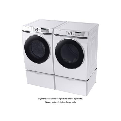 7.5 cu. ft. Electric Dryer with Steam Sanitize+ in White