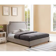 BRA66MT Brantford Platform Bed - King, Taupe