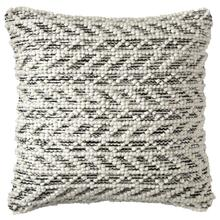 Herringbone Berber Pillow, BLACK, 18X18
