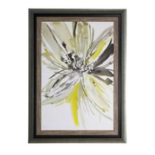 See Details - Contemporary flower print framed under glass 33X45X1