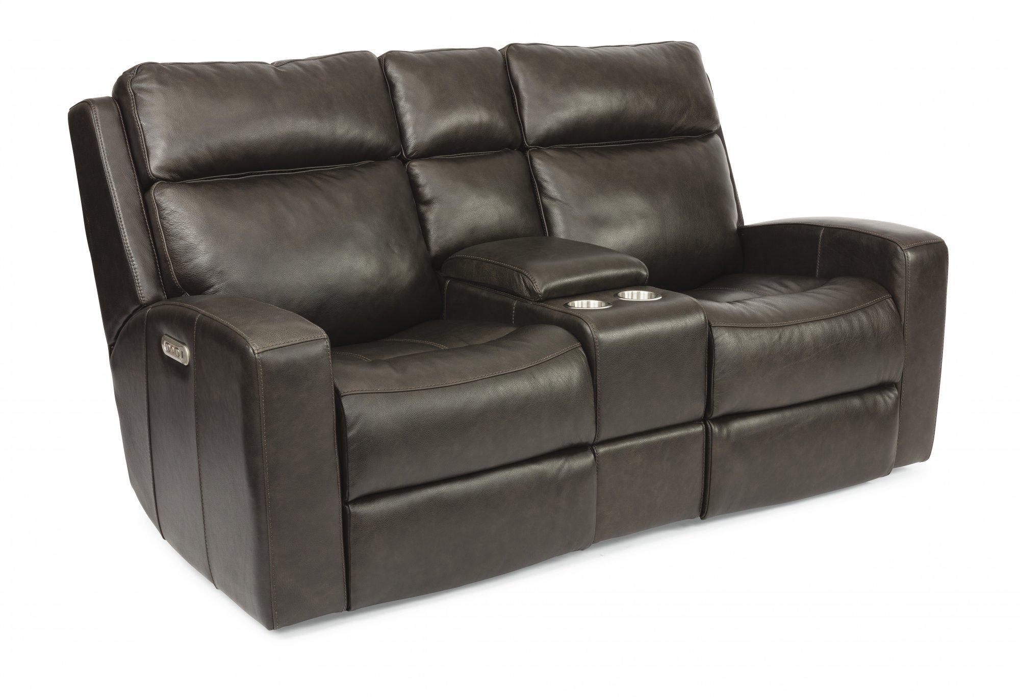 FlexsteelCody Power Reclining Loveseat With Console & Power Headrests