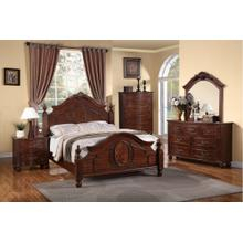 Mary Master Bed, Queen, Wooden-back