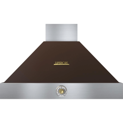 Hood DECO 36'' Brown matte, Gold 1 power blower, analog control, baffle filters