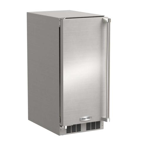 15-In Outdoor Built-In Clear Ice Machine with Door Swing - Left, Pump - No