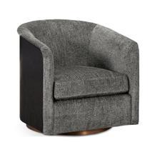 See Details - Geometric Dark Mocha Oak Swivel Chair