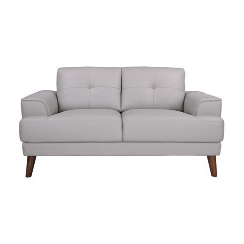 Porter International Designs - Anzio Cream Leather Sofa, Loveseat & Chair, L7120