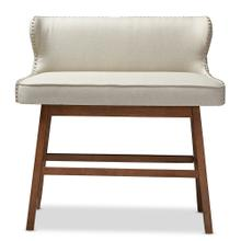 See Details - Baxton Studio Gradisca Modern and Contemporary Light Beige Fabric Button-tufted Upholstered Bar Bench Banquette