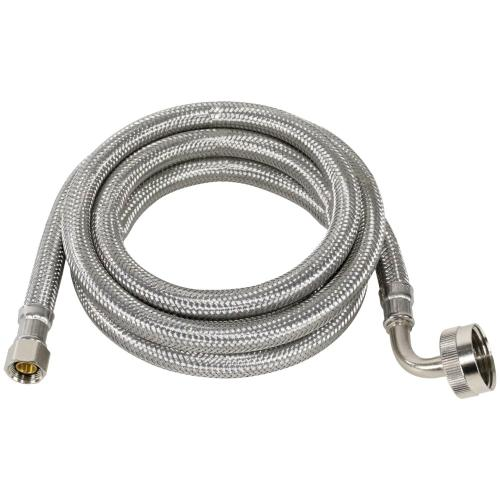 Petra - Braided Stainless Steel Dishwasher Connector with Elbow, 6ft