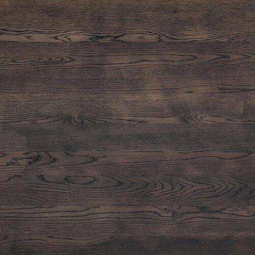 Armen Living - Nevada Rustic Oak Wood Trestle Base Dining Table In Dark Brown