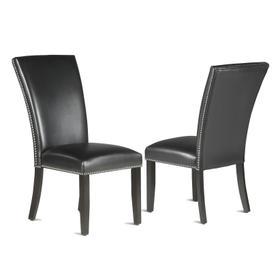 Finley Black PU Side Chair