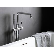 Freestanding Bath Faucet, Less Handshower - Nickel Silver