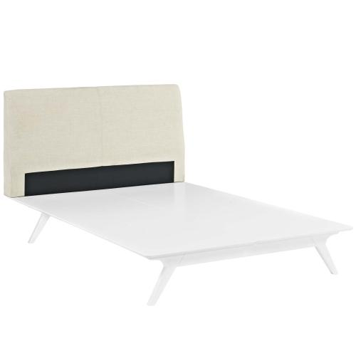 Modway - Tracy Queen Bed in White Beige