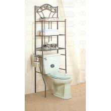 View Product - SHELF/BATHROOM LEAF DESI GN MTL NICKEL BRNZ/F