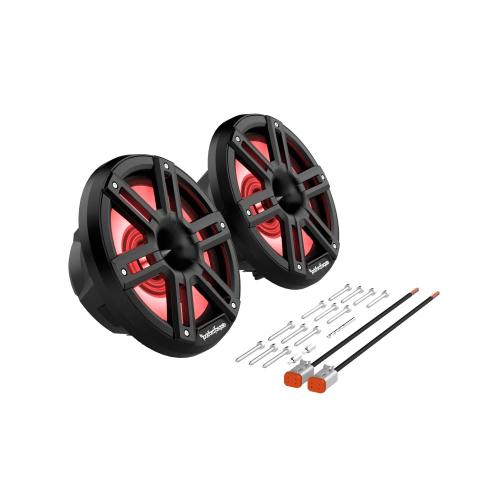"Rockford Fosgate - M2 8"" Color Optix™ Marine 2-Way Horn Speakers - Black"