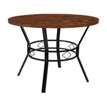 "Tremont 42"" Round Dining Table in Swirled Chocolate Marble-Like Finish"