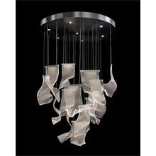 Nami: Twenty One Light Pendant Chandelier in Formed Acrylic Waves
